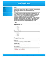 Web Design 38 - Design blue sober web 2.0 blue and white, sober web 2.0