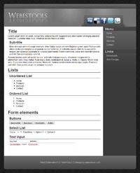 Web Design 66 - Design grey sober web 2.0 - style web 2.0 theme